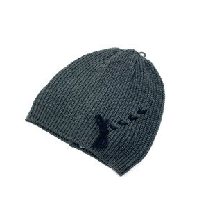 Vince Camuto New Charcoal Grey Beanie Hat Lace Up